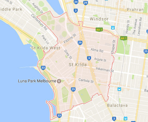electrician st kilda location map